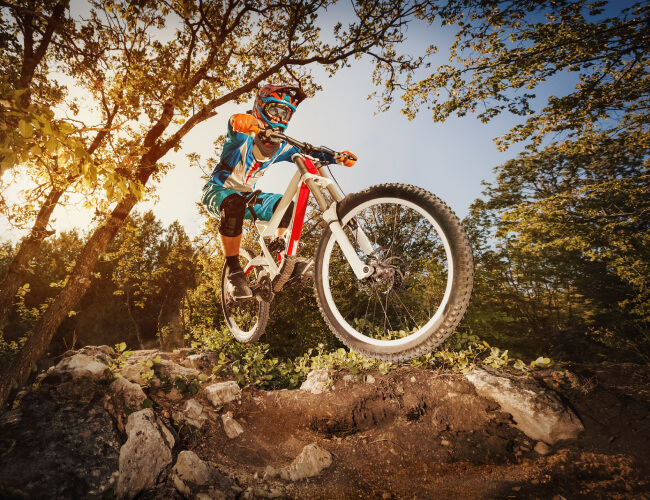 Mountain biking in Mammoth Lakes on vacation